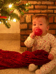 Eating an ornament